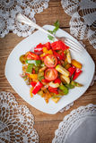 Ratatouille on a rustic table. Stock Images