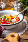 Ratatouille on a rustic table. Royalty Free Stock Photo