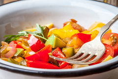 Ratatouille on a rustic table. Stock Image