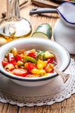 Ratatouille on a rustic table. Royalty Free Stock Images