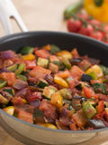 Ratatouille in a Saute Pan. With selected focus