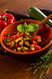 Ratatouille with spoon Stock Image