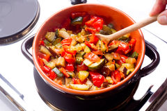 Ratatouille with spoon Stock Photography