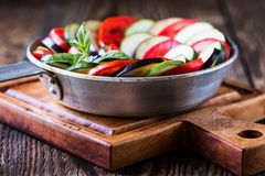 Ratatouille, stewed vegetable dish Stock Photo