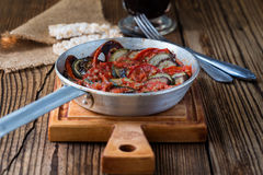 Ratatouille, stewed vegetable dish Stock Photos