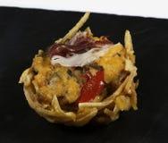 Ratatouille tart with ham Stock Photos