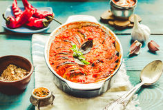 Ratatouille - traditional French Provencal vegetable dish cooked Royalty Free Stock Photo