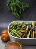 Ratatouille - traditional French Provencal vegetable dish cooked in oven royalty free stock photography