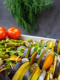 Ratatouille - traditional French Provencal vegetable dish cooked in oven royalty free stock images