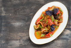Ratatouille - traditional vegetable stew in plate Stock Photos