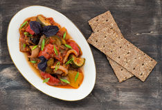 Ratatouille - traditional vegetable stew in plate Royalty Free Stock Images