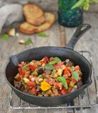 Ratatouille. On the wooden table stock images