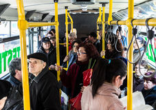 RATB - Día eléctrico de la prueba del autobús Foto de archivo