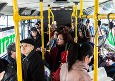RATB - Giorno elettrico di prova del bus Fotografia Stock