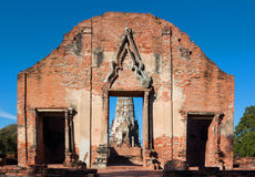 Ratburana temple in Ayutthaya, Thailand. Royalty Free Stock Images