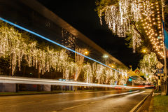 Ratchadamnoen road decorates light Stock Image
