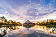 Ratchamangkhala Pavilion at public park name Suan Luang Rama IX on sunset or evening time Bangkok, Thailand. Bangkok, Thailand. - June 17, 2017 Stock Image