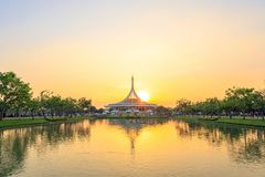 Ratchamangkhala Pavilion at public park name Suan Luang Rama IX on sunset or evening time Bangkok, Thailand. Bangkok, Thailand. - March 4, 2018 stock photo