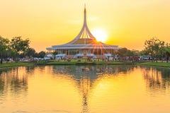 Ratchamangkhala Pavilion at public park name Suan Luang Rama IX on sunset or evening time Bangkok, Thailand. Bangkok, Thailand. - March 4, 2018 stock photography