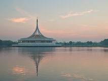 Ratchamangkhala Pavilion under twilight sky Royalty Free Stock Photos