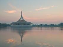 Ratchamangkhala Pavilion under twilight sky Royalty Free Stock Photos