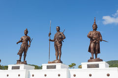 Ratchapak Park and the statues of seven former Thai kings Stock Image