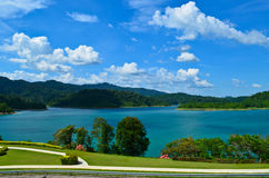 Ratchapapha水坝 免版税图库摄影