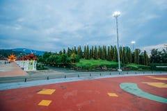 Ratchaphruek-Garten am 18. Dezember 2015: Lizenzfreie Stockfotografie