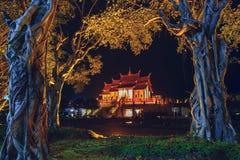 Ratchaphruek pavilion in Chiang mai Thailand at night.  Royalty Free Stock Photos