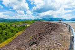 Ratchaprapa Dam Chaew Lan Dam Surat Thani Thailand.  Stock Photo