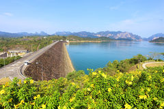 Ratchaprapa dam in Surat Thani Royalty Free Stock Image