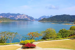 Ratchaprapa dam in Surat Thani Royalty Free Stock Photo