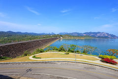 Ratchaprapa dam in Surat Thani Stock Photo