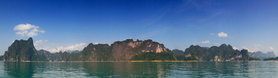 Ratchaprapa Dam ; View point landscape view. Stock Images