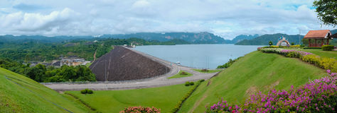 Ratchaprapha Dam, Hydro power and supply of water to the Souther Royalty Free Stock Images