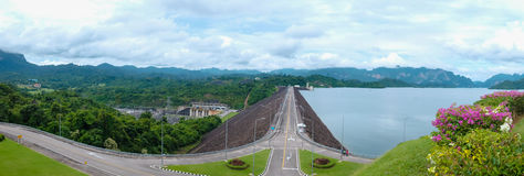 Ratchaprapha Dam, Hydro power and supply of water to the Souther Stock Images