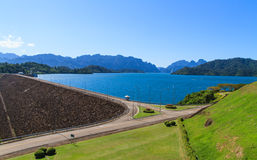 Ratchaprapha Dam. For Power Making, South of Thailand Royalty Free Stock Photo