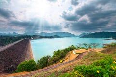 Ratchaprapha Dam Surat Thani province,Thailand Royalty Free Stock Photography