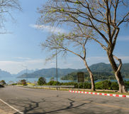 Ratchaprapha Dam in Surat Thani province,Thailand Royalty Free Stock Photography