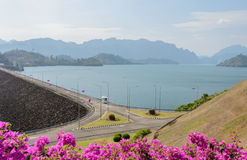 Ratchaprapha Dam in Surat Thani province,Thailand Stock Photos