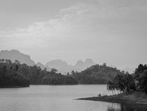 Ratchaprapha Dam in Surat Thani province,Thailand Royalty Free Stock Image