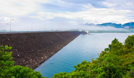 Ratchaprapha dam ,Thailand Royalty Free Stock Photos