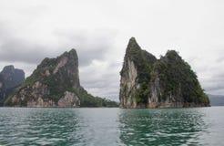 Ratchaprapha fördämning Thailand Royaltyfri Foto