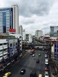 Ratchaprarop väg, Bangkok Arkivbilder