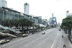 Ratchaprasong district in Bangkok Stock Photography