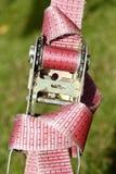 Ratchet lashing strap. Pink colored ratchet lashing strap Royalty Free Stock Photography