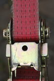 Ratchet lashing strap. Pink colored ratchet lashing strap Stock Photos