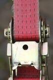 Ratchet lashing strap. Pink colored ratchet lashing strap Stock Photography