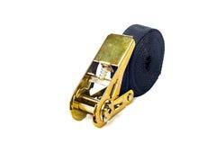 Ratchet strap. Ellow ratchet strap on a white background royalty free stock photo