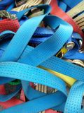 Ratchet strap. For industrial cargo stock images